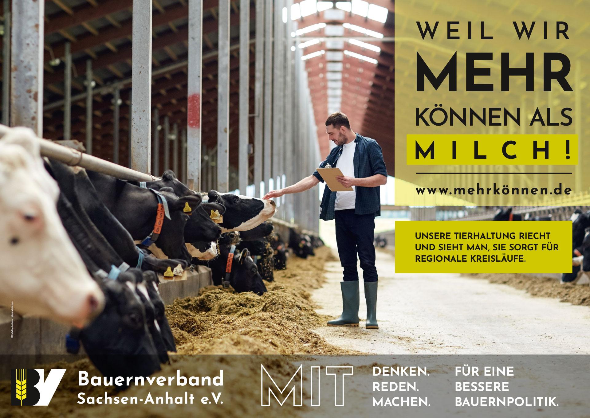 Plakatmotiv: Weil wir mehr können als Milch!